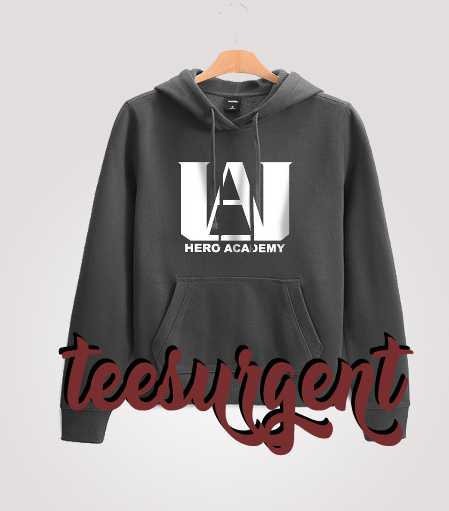 My Hero Academia Logo Hoodie Website Name
