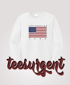Los Angeles 1984 USA Flag Sweatshirt