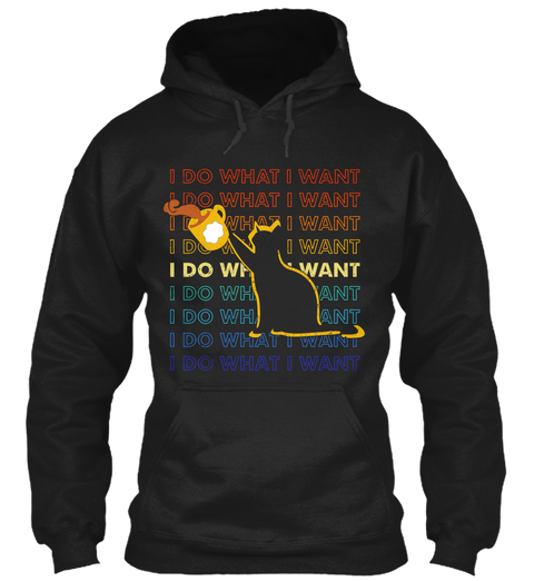 Vintage I Do What I Want Cat Coffee Cup Hoodie TM